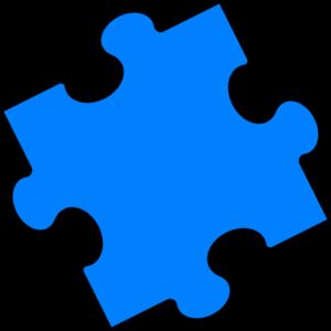 300x300 Blue Puzzle Piece Clip Art
