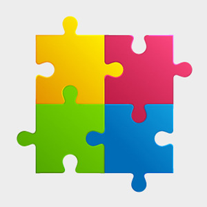 300x300 Free Colorful Puzzle Pieces Vector