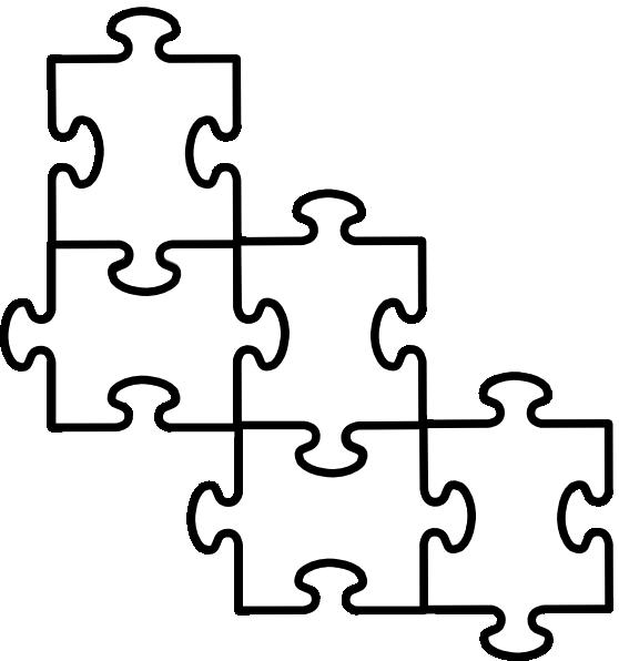 558x596 Puzzle Clipart Line