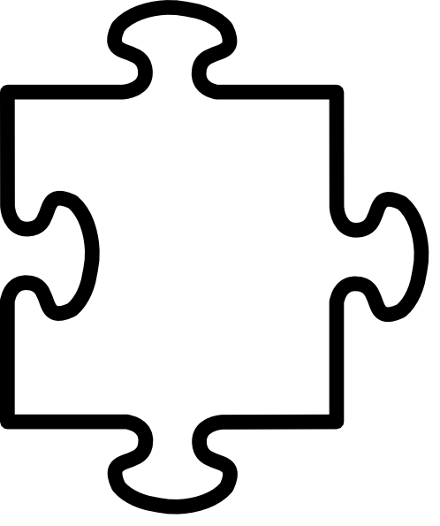 498x595 Coloring Page Puzzle Piece Puzzle Piece Outline Coloring Pages
