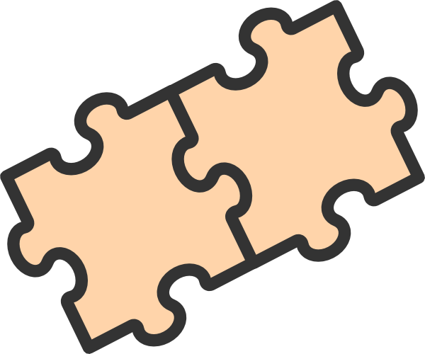 600x500 26 Images Of Two Puzzle Pieces Template