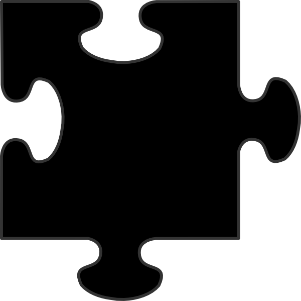 600x599 Black Border Puzzle Piece PNG SVG Clip Art For Web