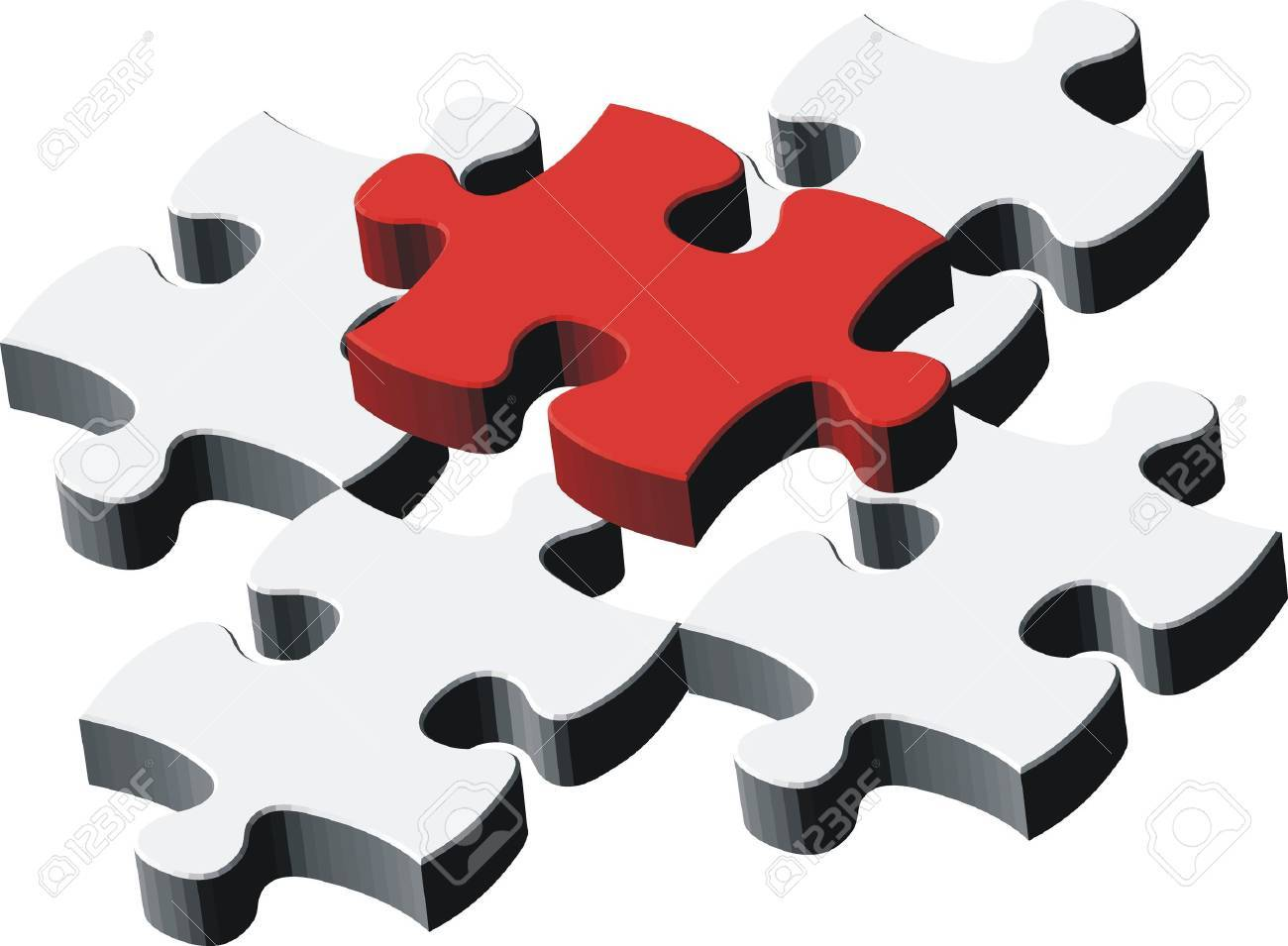 1300x955 Puzzle Pieces, Vector File Very Easy To Edit, Individual Objects