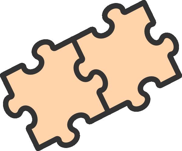 600x500 Puzzle Clipart 2 Piece