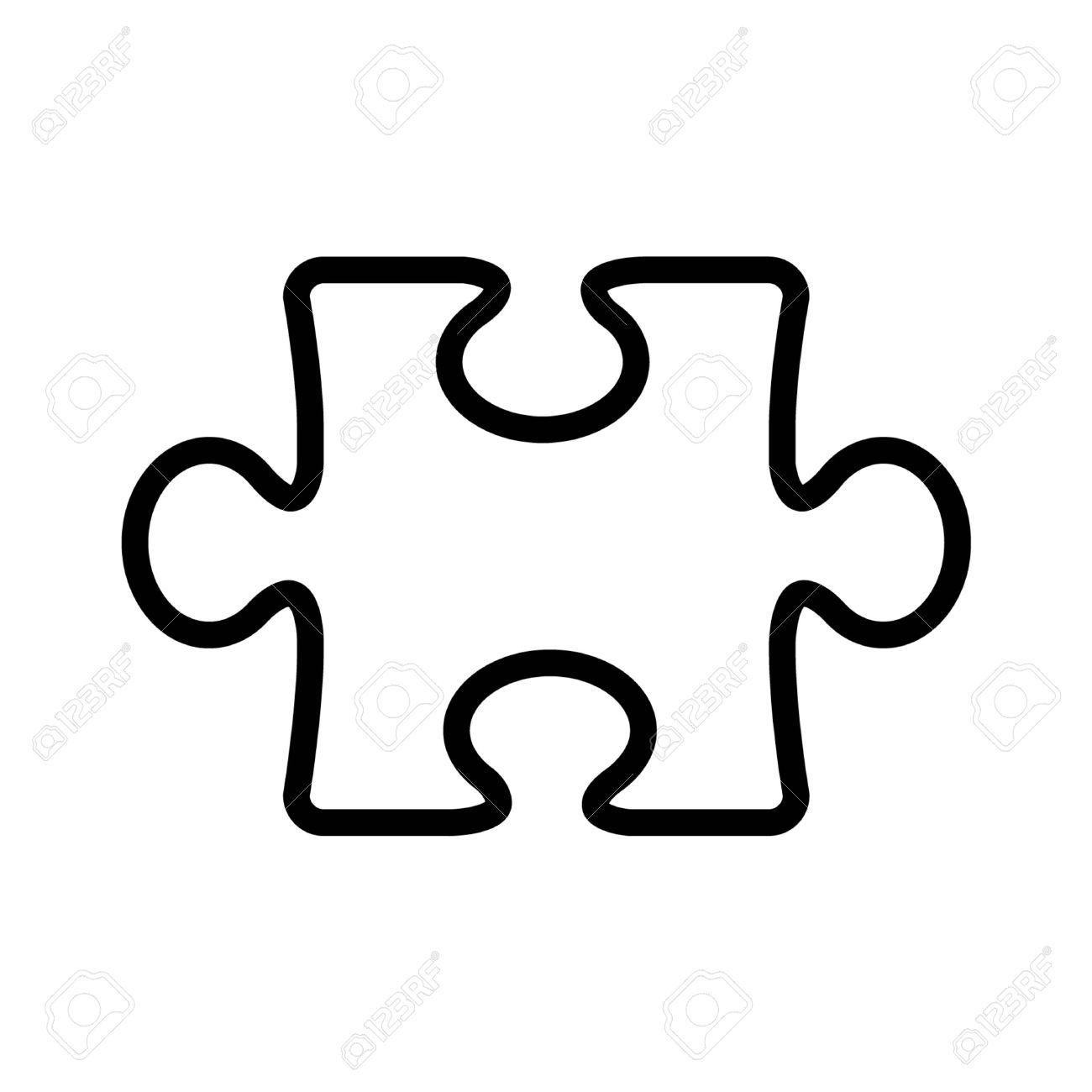 1300x1300 Puzzle Clipart Line