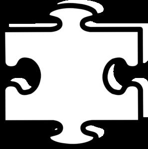 297x300 White All Puzzle Clip Art