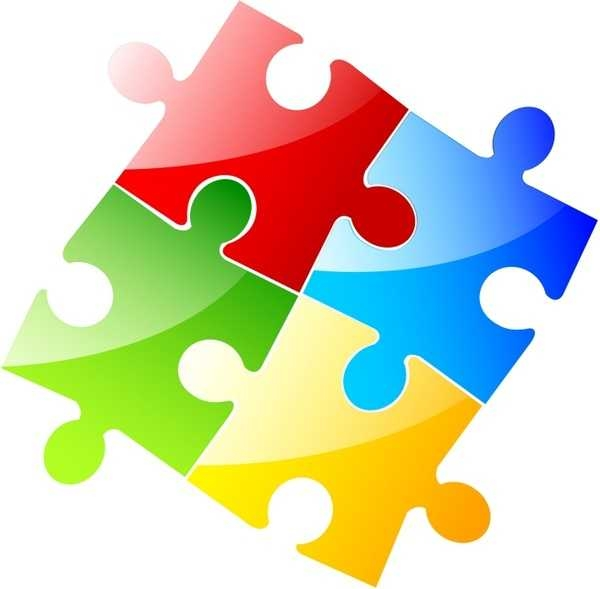 600x589 Clipart Puzzle Pieces Free Vector Download (3,660 Free Vector)