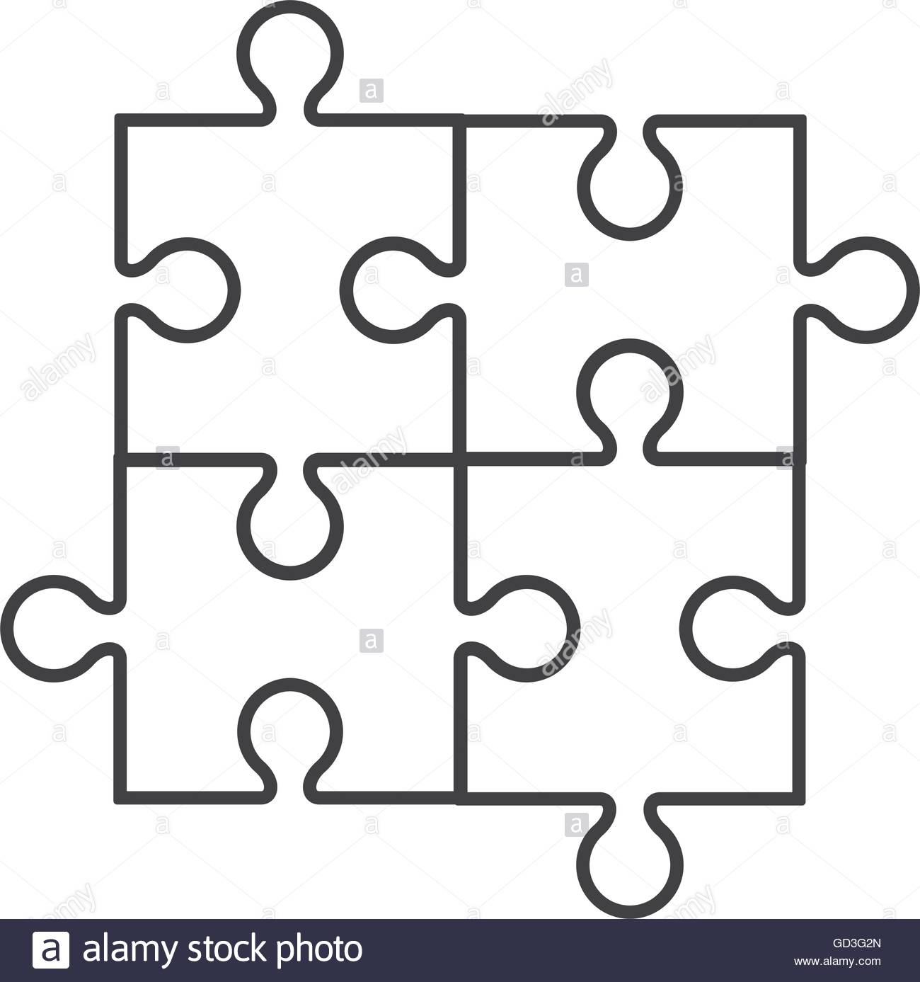 1300x1387 Square In Four Puzzle Pieces Icon Stock Vector Art Amp Illustration