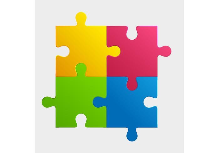 700x490 Vector Puzzle Pieces