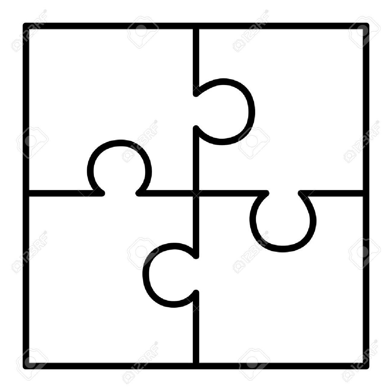 1300x1300 Four Piece Puzzle Diagram Royalty Free Cliparts, Vectors,