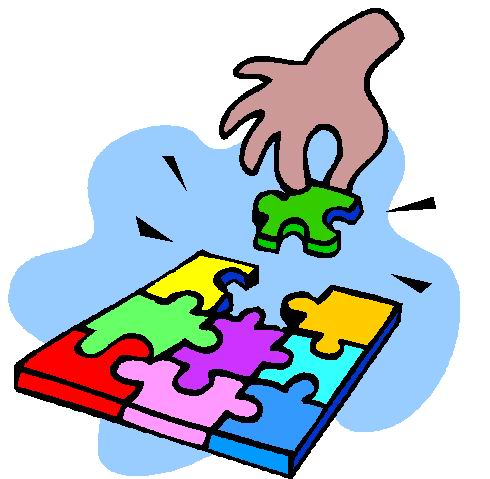 490x479 Puzzled Clipart