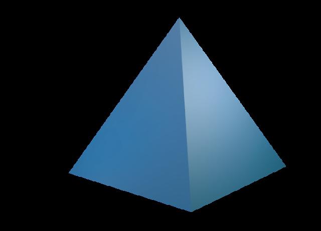 640x461 Math Clip Art Square Pyramid