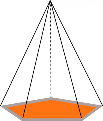 359x425 3d Pyramid Outline Clip Art Download