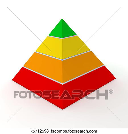 450x470 Stock Illustration Of Multicolour Pyramid Chart