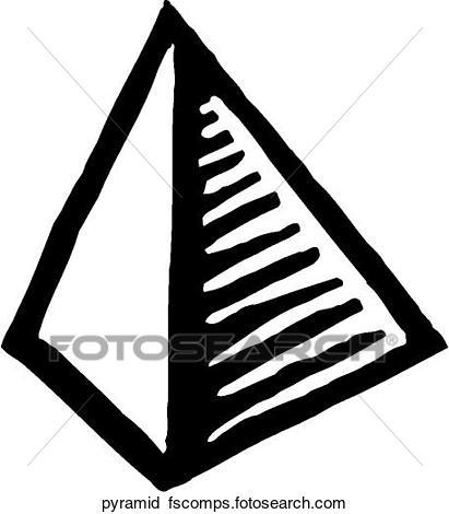 411x470 Clipart Of Pyramid Pyramid