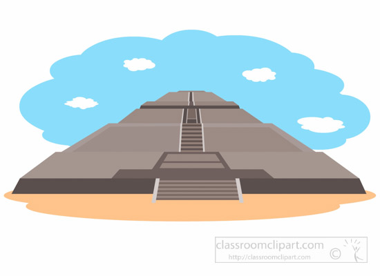 550x400 Ancient Clipart Aztec Pyramid