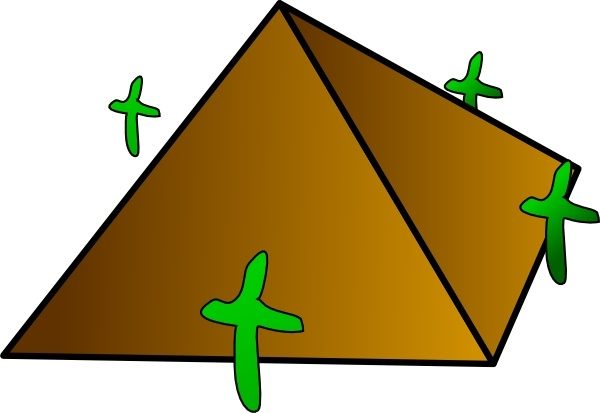 600x413 Pyramid Clip Art Free Vector In Open Office Drawing Svg ( Svg