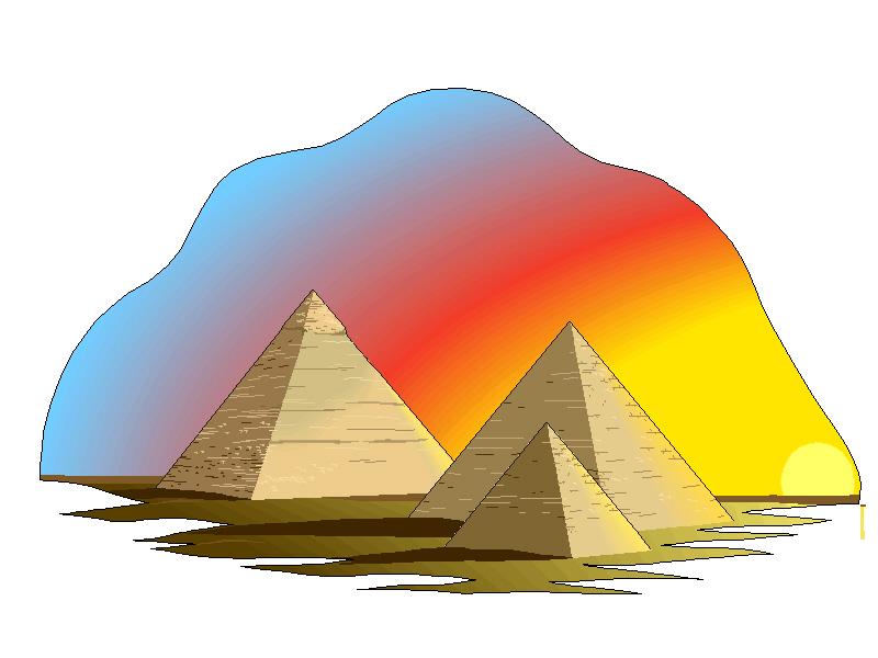 800x600 Pyramid Clipart Three