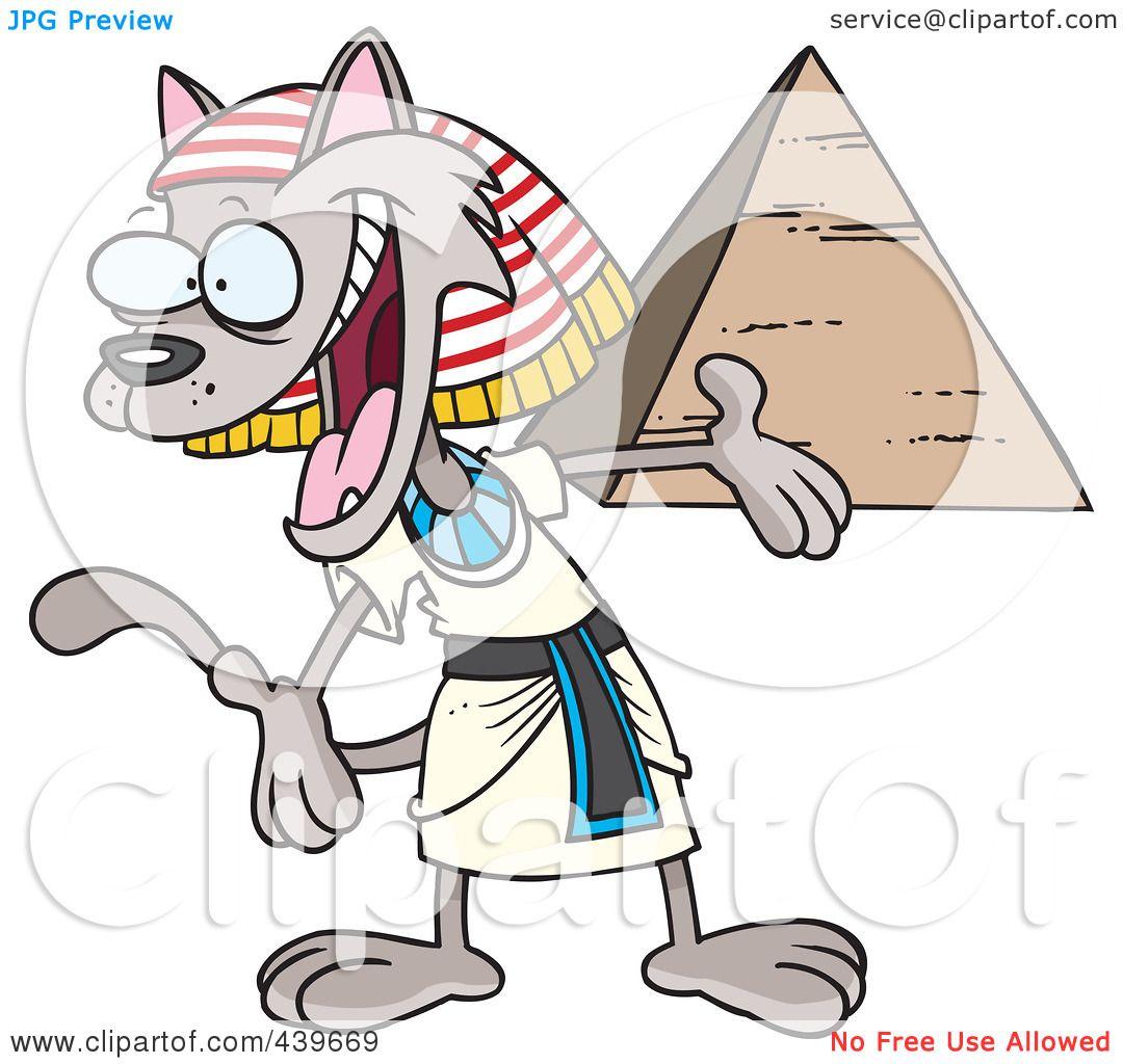 1080x1024 Royalty Free (Rf) Clip Art Illustration Of A Cartoon Egyptian Cat