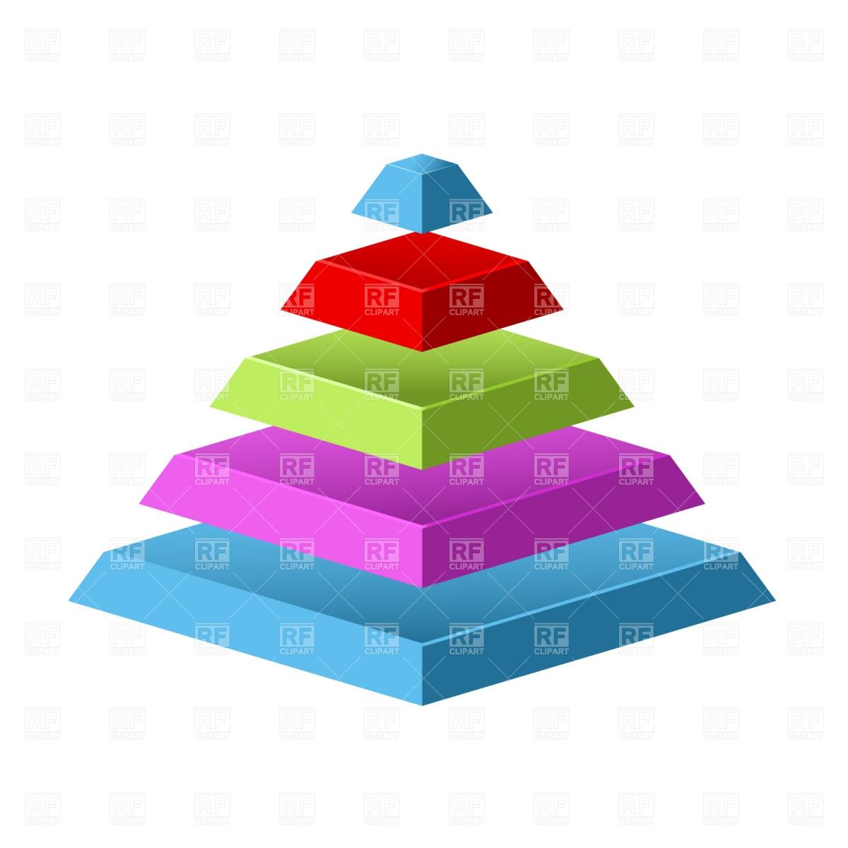1200x1200 Sliced Pyramid Royalty Free Vector Clip Art Image