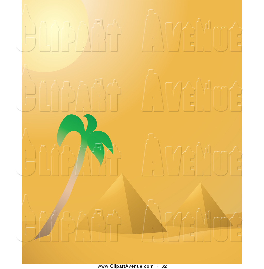 1024x1044 Avenue Clipart Of A Hot Desert Sun Shining Down Over A Palm Tree
