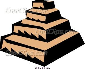 300x243 Step Pyramids Vector Clip Art