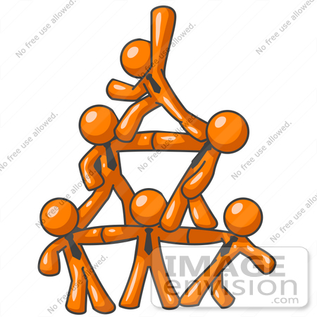450x450 Clip Art Graphic Of Orange Guy Characters Wearing Business Ties