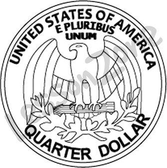 Quarter Clipart Black And White