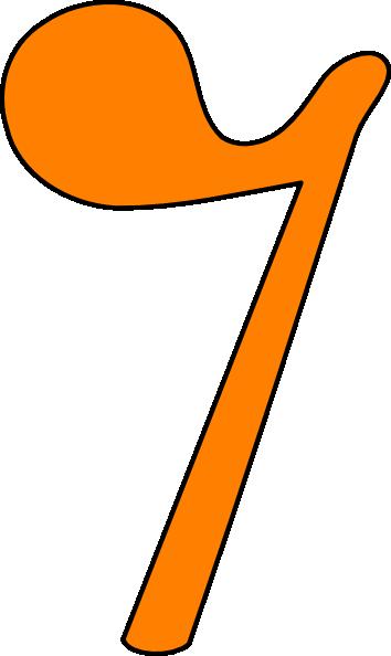 354x594 Eighth Rest Orange Clip Art