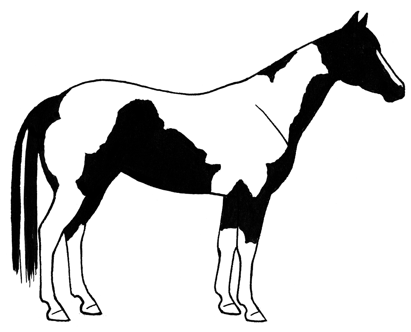 1364x1102 Horse Line Drawing Clip Art