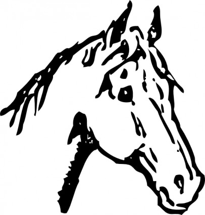 406x425 Horse Head Clip Art Free Vector In Open Office Drawing Svg Svg