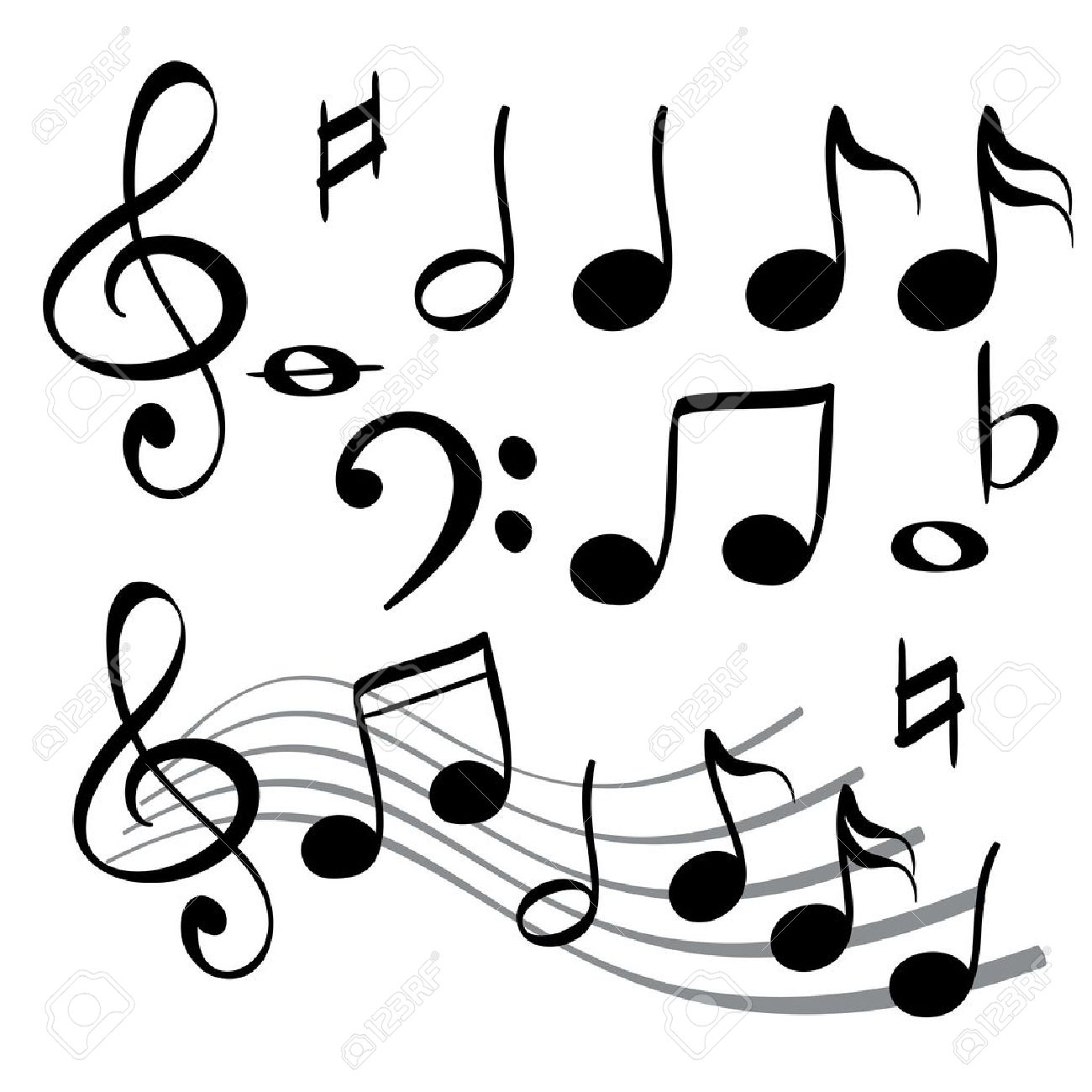 1300x1300 Music Notes Clipart Quavers