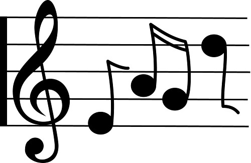 500x325 Music Notes Clipart Sheet Music
