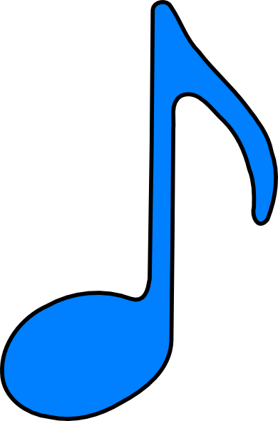 390x591 Eighth Note Blue Clip Art