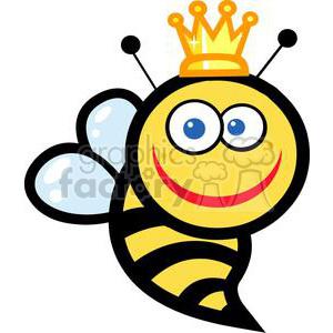 300x300 Royalty Free Smiling Queen Bee 379638 Vector Clip Art Image