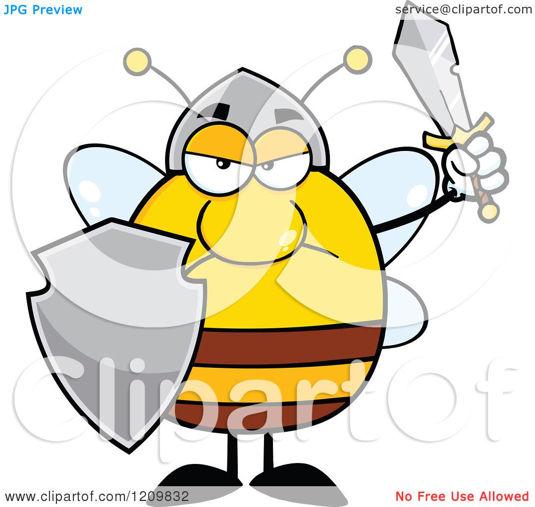 1080x1024 Bee Clipart Warrior
