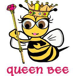 250x250 Cute Queen Bee Clipart