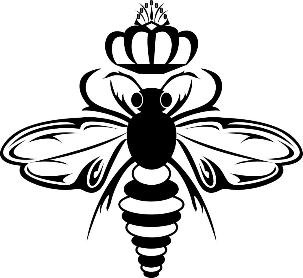 1024x938 Drawn Bee Queen Bee