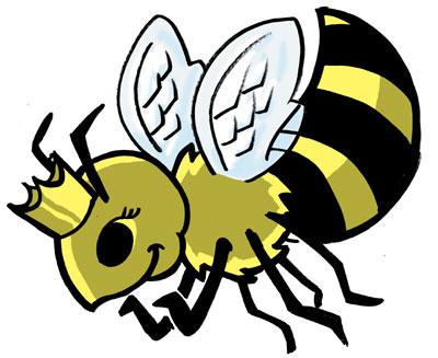 400x327 Queen Bee Tattoo Design By Coppercap