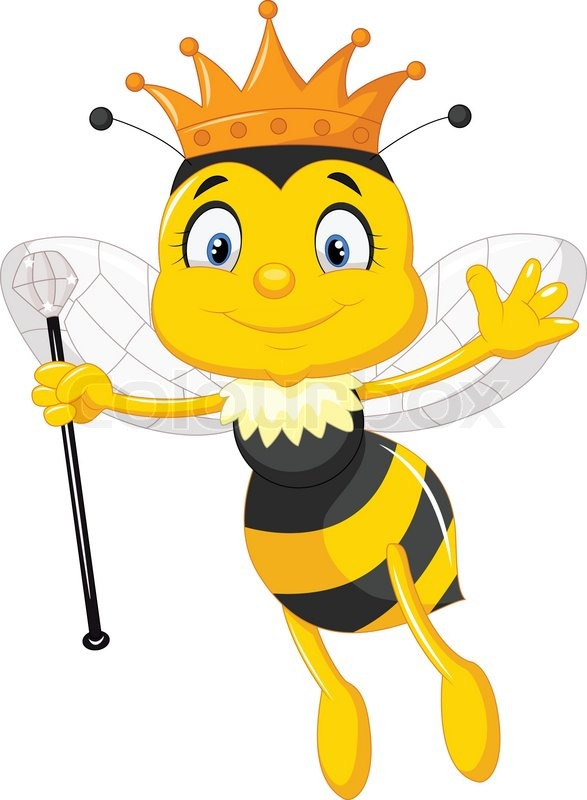 587x800 Vector Illustration Of Queen Bee Cartoon Stock Vector Colourbox
