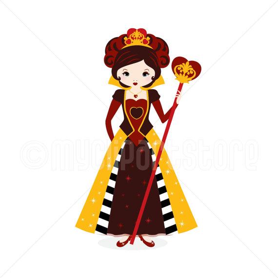 570x570 Clipart Red Queen Queen Of Hearts Digital Clip Art