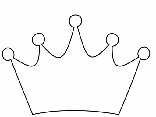 512x384 Crown Clipart Black And White