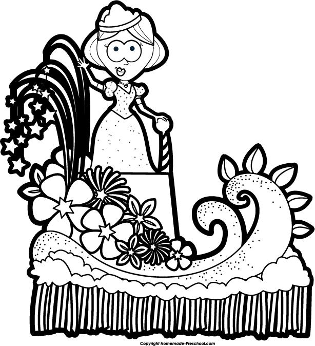 614x674 Beauty Queen Clipart