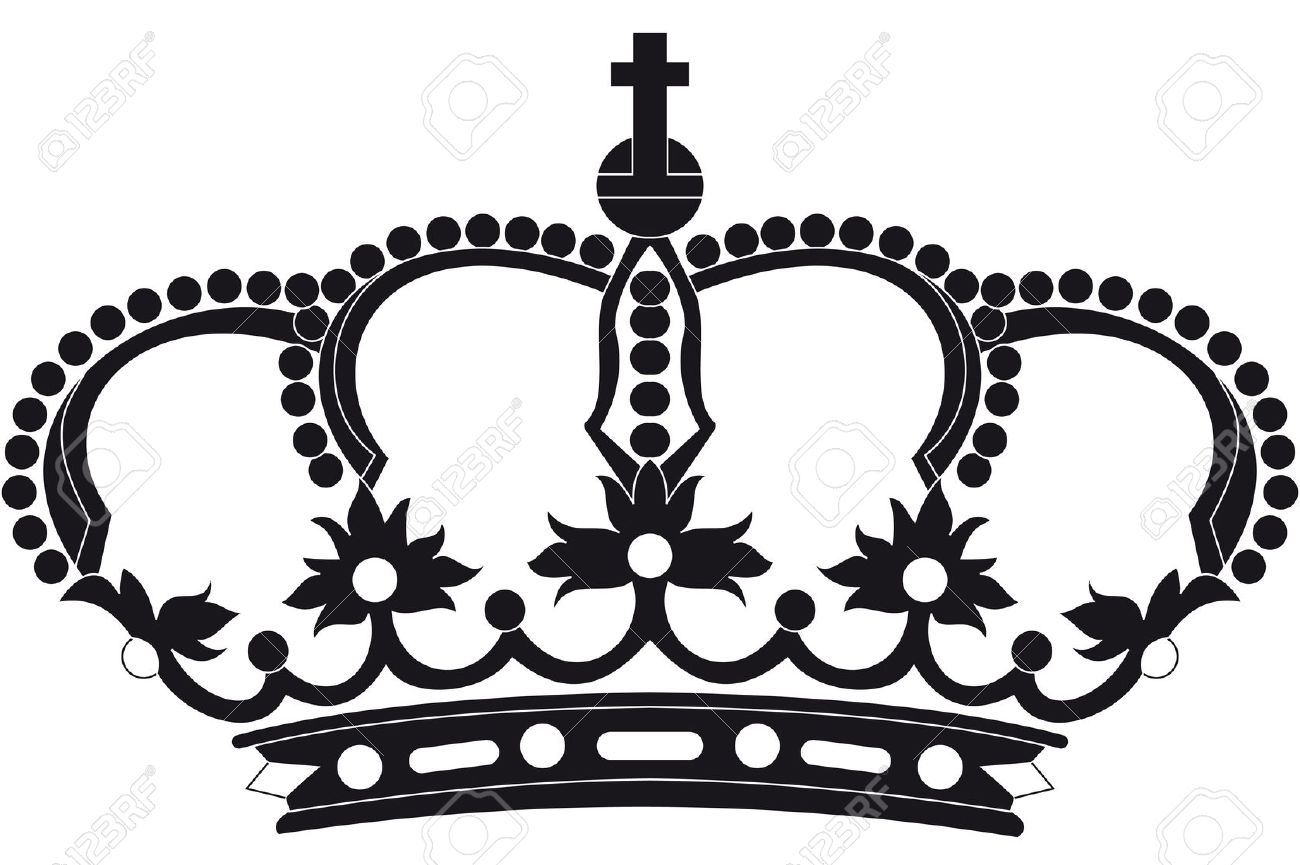 Queen Clipart Black An...