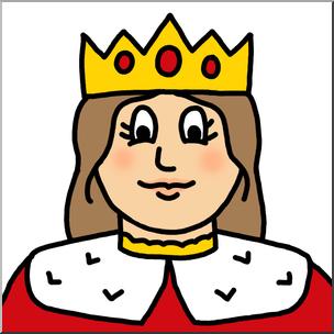 304x304 Clip Art Cartoon Faces Queen Color 1 I Abcteach