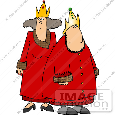 450x450 King And Queen In Red Robes Clipart