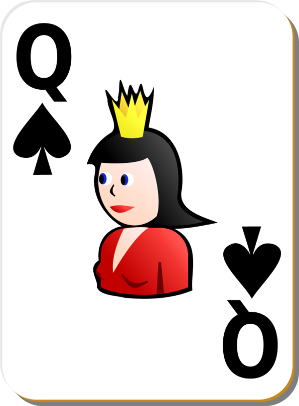 600x815 Queen Of Spades Playing Cards Clip Art Clipart