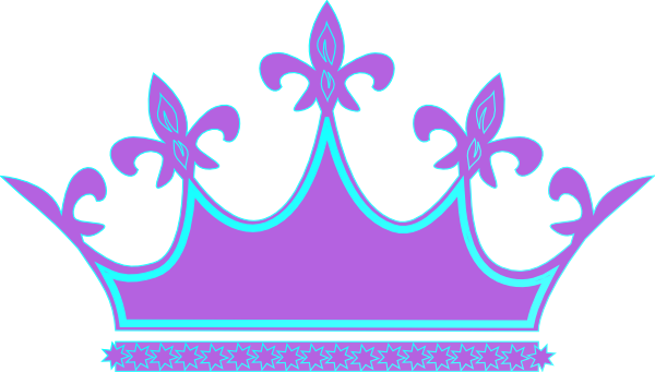 600x341 Queen Clipart Blue