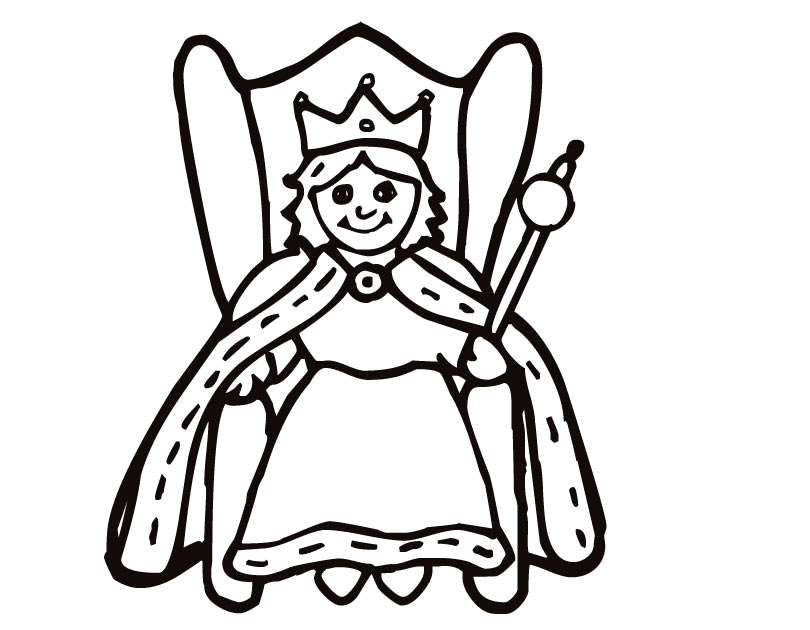 810x630 breathtaking queen coloring page 14 about remodel picture coloring - Queen Esther Coloring Pages