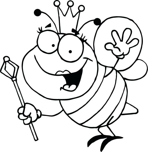 600x615 Bumble Bee Coloring Pages Best Place To Color